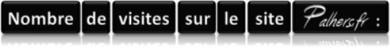Nombre de visites sur le site palhers.fr